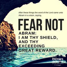 Real Heroes have no fear! #fearnot #trust #believe #bibleheros  #trueheroes #heroesdeverdad.