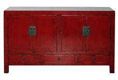 19th-C.  Hubei Red Buffet