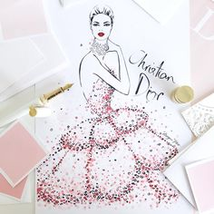 """3,108 Likes, 32 Comments - Megan Hess (@meganhess_official) on Instagram: """"A sneak peek at one of my DIOR Illustrations that will be on display today at @mercedesbenzau…"""""""