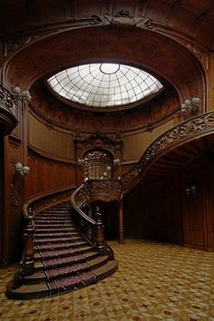 architecture steampunk victorian staircase steam punk steampunk tendencies Wood Carved