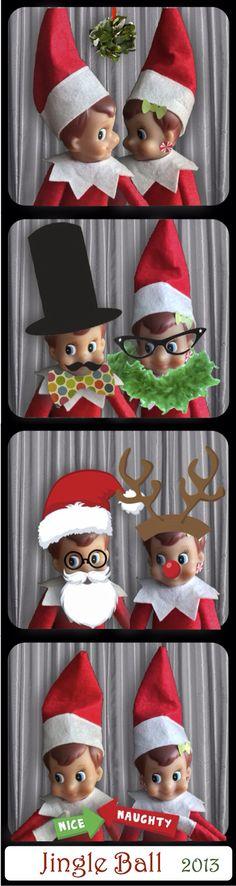 Elf on the Shelf Photo booth!