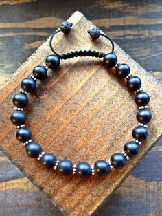 Hey, I found this really awesome Etsy listing at https://www.etsy.com/listing/205617921/onyx-8mm-beaded-armlet-with-silver