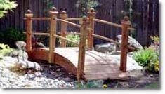10 foot mortised rail garden bridge