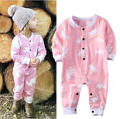 60bbf6317dcc 0 18M Newborn Baby Girl Clothes Cute Long Sleeve Cotton Animal Print Bebes Romper  Jumpsuit Outfit Bebes Clothing-in Rompers from Mother   Kids on ...