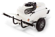 25 Gallon Tow-Behind Power Sprayer Power Sprayer, Atv Attachments, Yard Maintenance, Power Motors, Lever Action, Cool Tools, Tractors, Baby Strollers, Two By Two