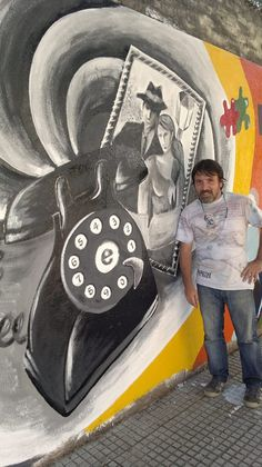 """""""Hola liniers, tantos años"""" participación en el mural de la calle Carhué y Boquerón Four Square, Painting, Street, Buenos Aires, Hipster Stuff, Painting Art, Paintings, Painted Canvas, Drawings"""