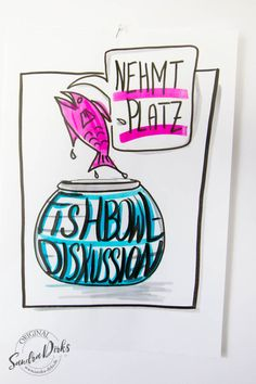 Mini - Flipchartkurs Fishbowl http://sandra-dirks.de/mini-flipchartkurs-fishbowl/