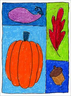 Art Projects for Kids: Symbols of the Season Drawing