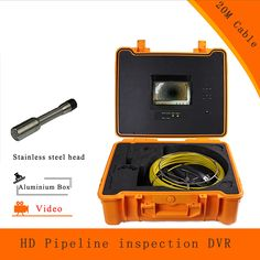 (1 set) 20M Cable Pipeline Sewer Inspection Camera With DVR Function Endoscope CMOS Lens Waterproof night version  CCTV system #Affiliate