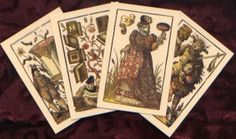 16th Century German Cards.  Dating to 1588 this 52-card deck is based on one of the most significant works of Jost Amman, one of the more prolific artists of the German Renaissance.