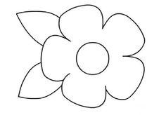 çiçek Kalıbı Boyama Sayfaları Resim Shape Coloring Pages Flower