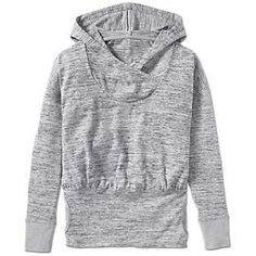 Hooded Batwing And Robin Top at Athleta - size S in either grey or blueberry