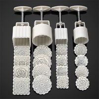 16pcs Flower Stamps Mooncake Pastry Moon Cake Mold 4pcs Round Baking Mould Tool