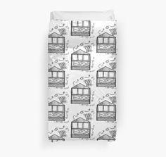 $111.84 CAD  This piece is part of a bigger art piece and my love for doodling homes comes from the admiration for interior and exterior design. Be sure to check out more of my dorm life duvet collection at my redbubble shop: https://www.redbubble.com/people/jomanaromana/shop/duvet-covers?accordion=product&cat_context=u-decor&ref=artist_shop_product_refinement&asc=u