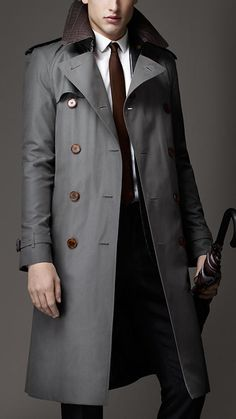 Grey Overcoat by Burberry. Buy for $4,995 from Burberry
