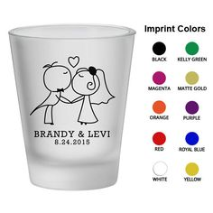 Frosted Wedding Shot Glass (Clipart 1830) Bride and Groom Kissing - Wedding Favors - Wedding Glasses - Personalized Shot Glasses