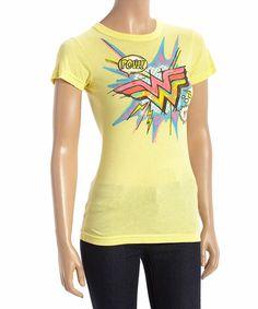 Loving this Yellow Wonder Woman Logo Tee - Women on #zulily! #zulilyfinds