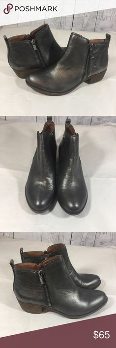 Lucky brand Basel ankle booties pewter New lucky brand Basel ankle booties pewter platinum silver Lucky Brand Shoes Ankle Boots & Booties