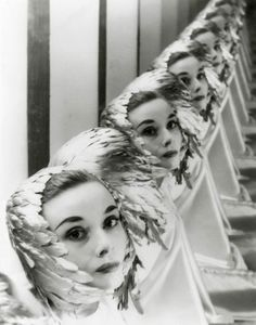 Erwin Blumenfeld, Audrey Hepburn-- could do it in guest room closets