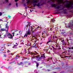 Katja Tukiainen: Le Radeau de la Méduse, 2015, öljy kankaalle. Art Education, Art Inspo, Art Museum, Art History, Fine Art, Drawings, Illustration, Painting, Museums