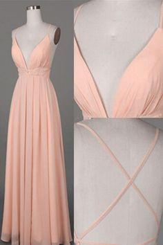 V-Neck Prom Dress#V-NeckPromDress Backless Prom Dresses#BacklessPromDresses Long Evening Dresses#LongEveningDresses Charming Prom Dresses#CharmingPromDresses
