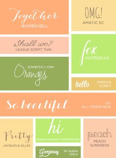 My All Time Favorite #Handwritten #Fonts