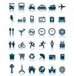 36 Crisp Vector Travel Icons Set - http://www.dawnbrushes.com/36-crisp-vector-travel-icons-set/