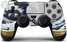 Hokusai PS4 DualShock4 Controller Skin - The Great Wave off Kanagawa Vinyl Decal Skin For Your PS4 DualShock4 Controller (*Amazon Partner-Link)