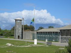 Prison of Nelson Mandela of his 27 years) & many others. Tours used to be given by former inmates. From the island prison you can see Cape Town & Table Mountain. Nelson Mandela, Jacob Zuma, Pretoria, Africa Continent, Political Prisoners, Cape Town South Africa, Table Mountain, Island, African Safari