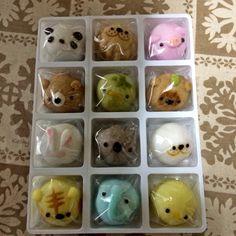 Japanese sweets   浪越軒 『どうぶつえん』 Japanese Sweets, Eggs, Food, Japanese Candy, Egg, Essen, Japanese Sweet, Yemek, Meals