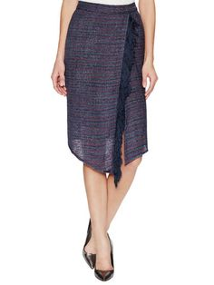 Box Tweed Fringe Wrap Skirt by Alex   Alex at Gilt