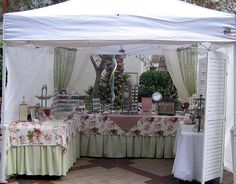 craft show. The table cloths add a lot to the look of the space.