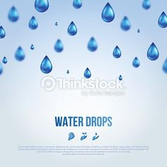 Vektorgrafik : Water Blue Drops. Vector illustration.