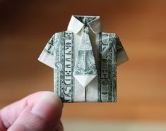 Dollar bill origami shirt and tie