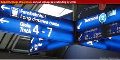Airport signage and wayfinding inspiration