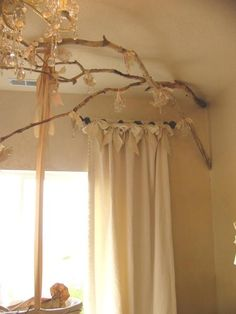 Love the feminine bows in this nursery curtain design!