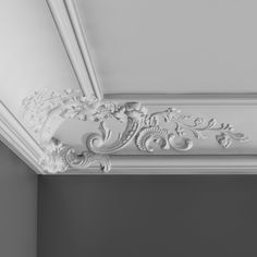 Large, French style cornice for use in the corners of the room. Use along with and cornice. Supplied in 2 metre lengths. Gypsum Ceiling Design, Ceiling Design Living Room, Home Ceiling, Wall Panel Molding, Floor Molding, Crown Moldings, Cornice Design, Orac Decor, Plafond Design