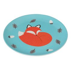 Rusty The Fox Melamine Plate from Rex London - the new name for dotcomgiftshop. Great value gifts and homeware in original designs.