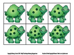 Tutle Counting: Four 0-10 Math Center Activities