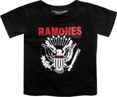 THE RAMONES - Black with White Eagle Emblem Logo T-Shirt - Size 4T, MSRP: $21.99 (Sourpuss) Toddler Tee - ON SALE FOR $14.99 - 1-KT4-86211.   Assorted punk rock sizes available!