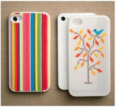 Cross Stitch #phone cover (Photo by: Purl Bee)