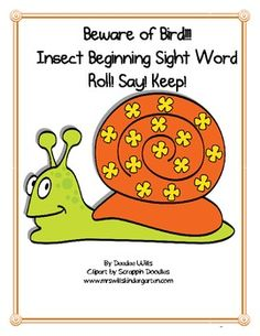 Cute bugs make this familiar game just perfect for your insects themed literacy stations or word work.77 high frequency words, color words, and...