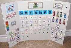 ourhomecreations: Preschool learning board #2