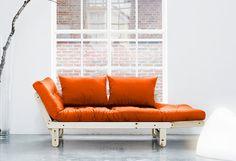 Schlafsofa, Karup ab 399,99€. Modernes Schlafsofa inkl. Matratze und 2-tlg. Kissen-Set, Nutzbar als Sofa, Recamiere oder Schlafgelegenheit bei OTTO