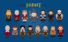 Cross stitch pattern The Hobbit