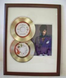 Gouden dubbel plaat Prince When Doves Cry & Little red Corvette