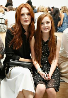 Julianne Moore & her daughter. I love thier hair color!