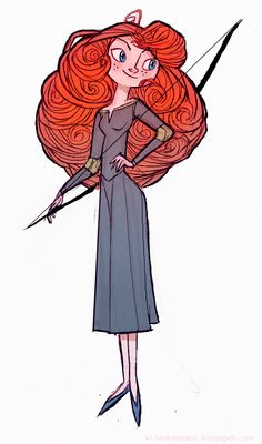 This sweet cartoon Merida could star in a comic book. Illustration by lemurali
