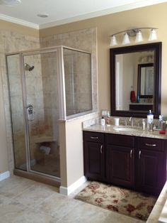 Small bath rooms with shower only design ideas pictures for Bathroom remodel 32828