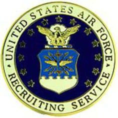 """U.S. Air Force Recruiting Service Pin 2"""" by FindingKing. $13.99. This is a new U.S. Air Force Recruiting Service Pin 2"""""""